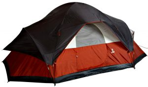Coleman 8 person red canyon tent - base size -  family dome tent read detail reviews & comment on amazon website list