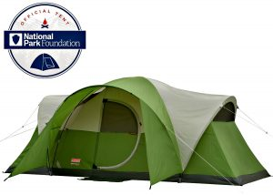 Coleman Montana 8 Person Tent - rain fly with poles - water proof floor in rainy day - pros &cons